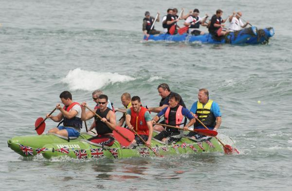 Rafts battle it out on the water for raft race