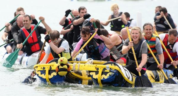 VIDEO: Battling it out in the Great Waterside Raft Race