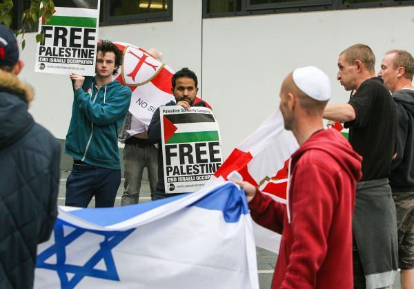 Several protests have taken place in Southampton over the Gaza conflict over the past weeks such as this one pictured