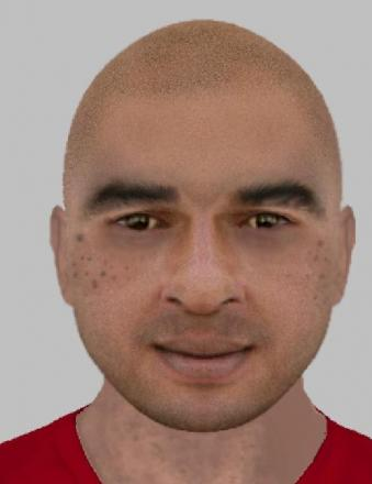 The e-fit image released by police in relation to an indecent assault
