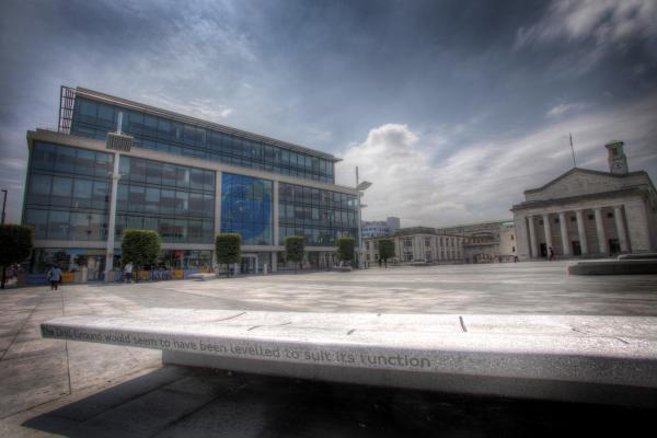 Guildhall Square - the venue for the party