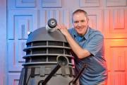 Chris Balcombe with the Dalek he is restoring