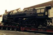 The lorry carrying the Watercress Line steam engine broke down in Alresford. Picture by Robert Mott