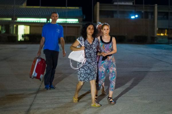Brett and Naghmeh King leave Soto Del Real prison in Madrid