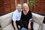 Leigh Atkinson and Gill Richardson are recovering well ahead of their wedding next February