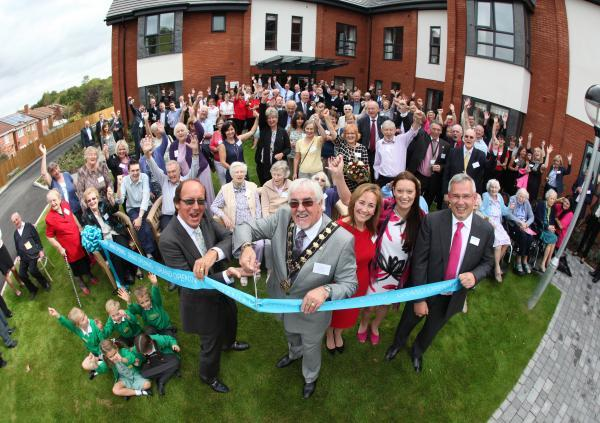 Fred Dinenage And Eastleigh Mayor Tony Noyce Cut The Ribbon At Sunnybank House Care Home In