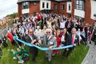 Fred Dinenage and Eastleigh Mayor Tony Noyce cut the ribbon at Sunnybank House Care Home in Fair Oak