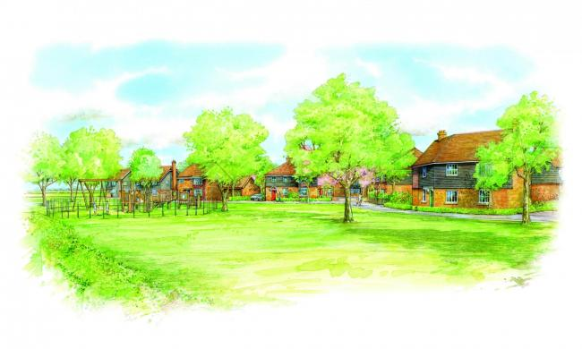 Artists impression of Chestnut Avenue plan