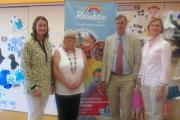 (L-r) Sharon Manzur, of Enham Trust, Yvonne Winstanley, family support worker, Philip Lea, of Moore Blatch and Lara Bull, of The Rainbow Centre