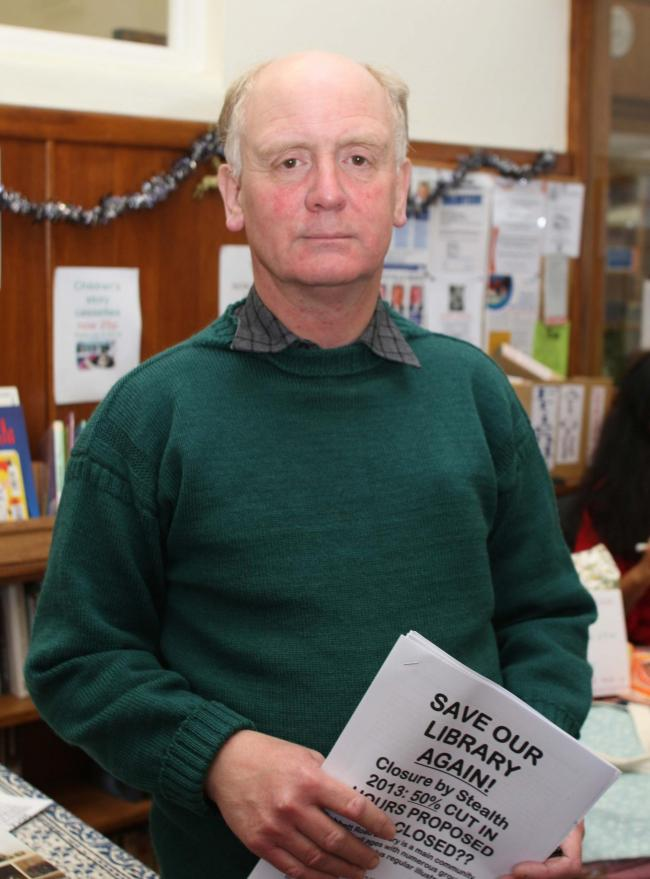 Kevin Lancashire, chairman of Friends of Cobbett Road Library, has vowed to fight any plans to shut libraries