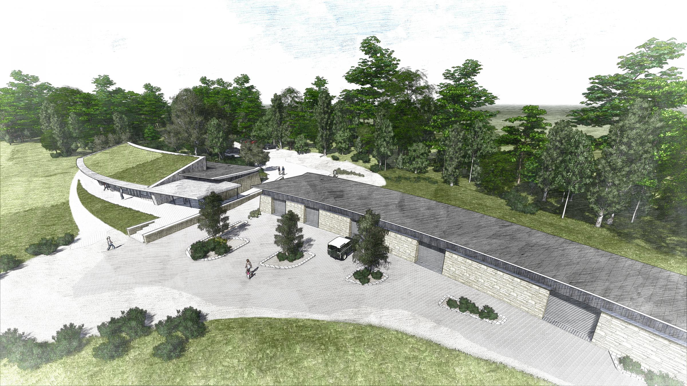 New £2.5 million water sports centre given go ahead for Hampshire lake. Image by RH Partnership Architects.