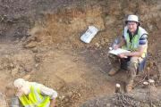 Francis Wenban-Smith recording deposits at the Baker's Hole site.