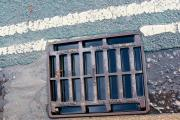 A blocked drain on top of the Itchen Bridge on November 15.