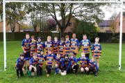 NEW KIT: Romsey Rugby Club under-12s show off their new strip, which is sponsored by Active Freight Worldwide.
