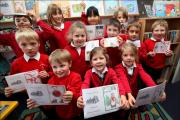 The Christmas card competition winners at All Saints Primary School