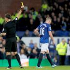 Daily Echo: Referee Mark Clattenburg booked Everton's James McCarthy, right, after the incident
