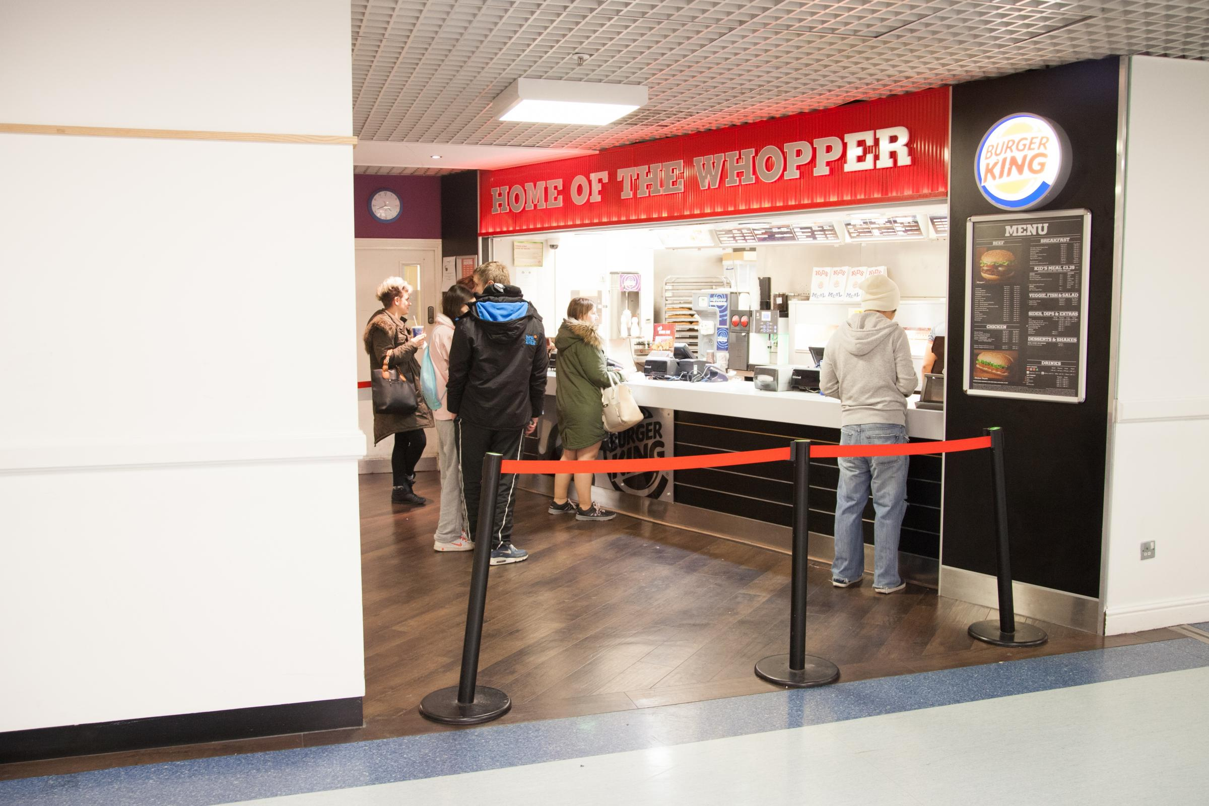 The branch of Burger King at Southampton General Hospital.