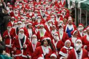 Santas storming the streets of Winchester at last year's event