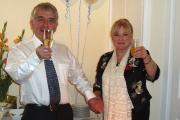 Dr Julian Kenyon celebrating the Dove Clinic's 10th birthday with his wife Tanya.
