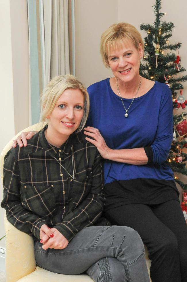 Natalie Mounter at home in Bishop's Waltham with mum Carol Ennever