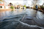 Romsey was one of the worst affected areas by flooding in January