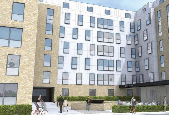 Artist's impressions of the new flats at Back of the Walls in Southampton