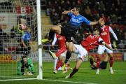 Yann Kermorgant scores against Rotherham in the FA Cup Third Round match