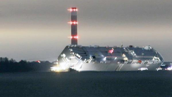 Major rescue operation as ship runs aground in Solent
