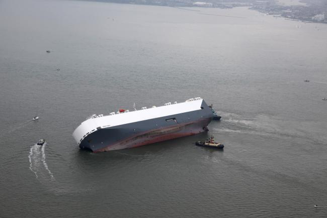 £1m worth of Minis on stricken Hoegh Osaka - picture compliments to Airways Aviation