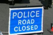 Road closed after accident