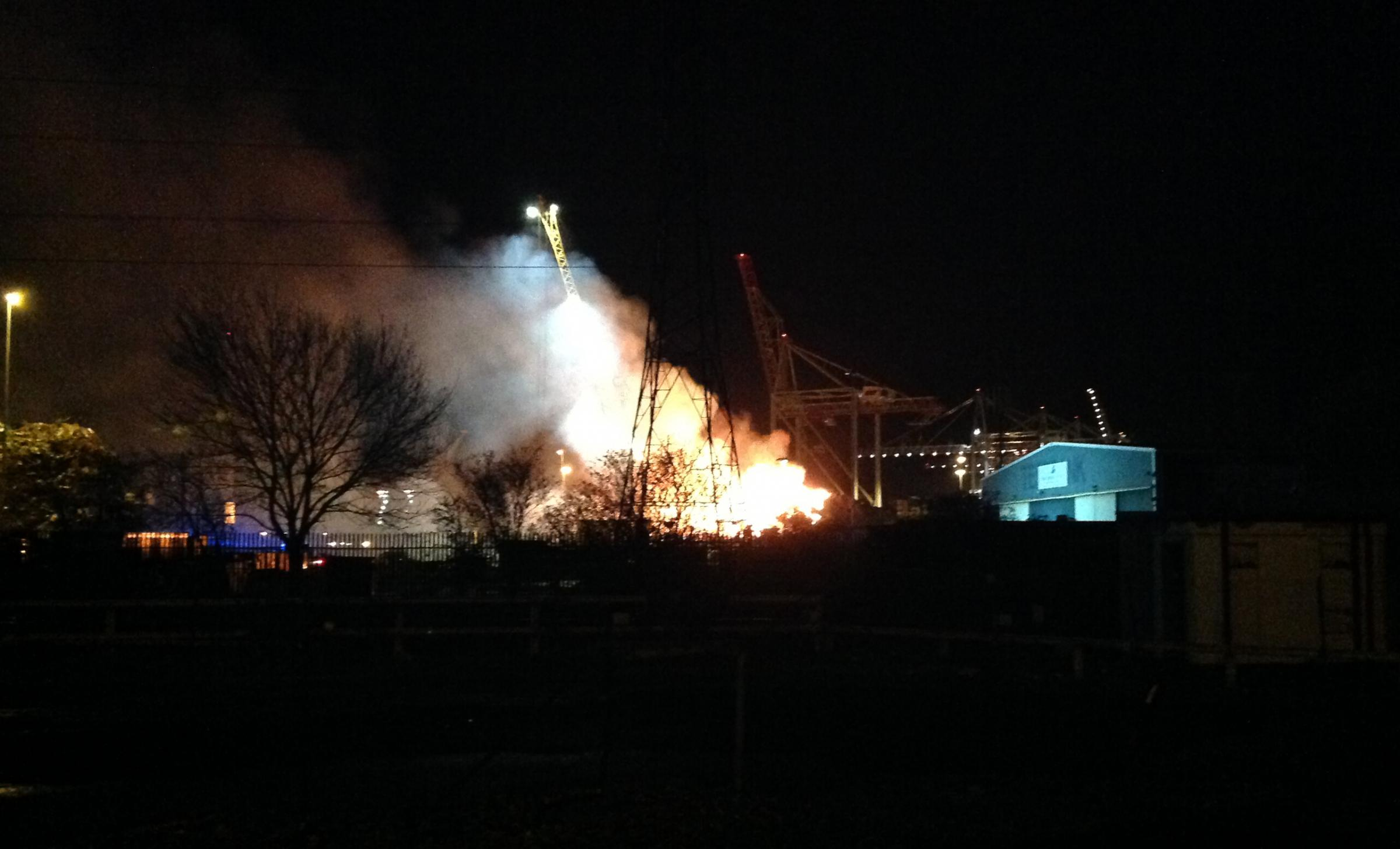DOCKS FIRE: Fears over biomass plant reignited after woodchip blaze
