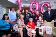 SPECIAL LADY: Mary Goodall celebrates her 100th birthday at Hamble Heights care home in Park Gate.
