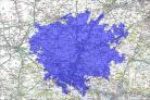 How a city the size of London would dominate Hampshire.