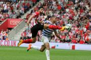 Graziano Pelle fights for the ball during Saints' 2-1 win over QPR at St Mary's Stadium last September, where Victoria Callen assaulted steward Karen Meadows