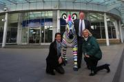 Shopping centre signs up for zoo's Southampton zebra trail