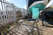 Thieves cut through security fencing at Hythe Sailing Club