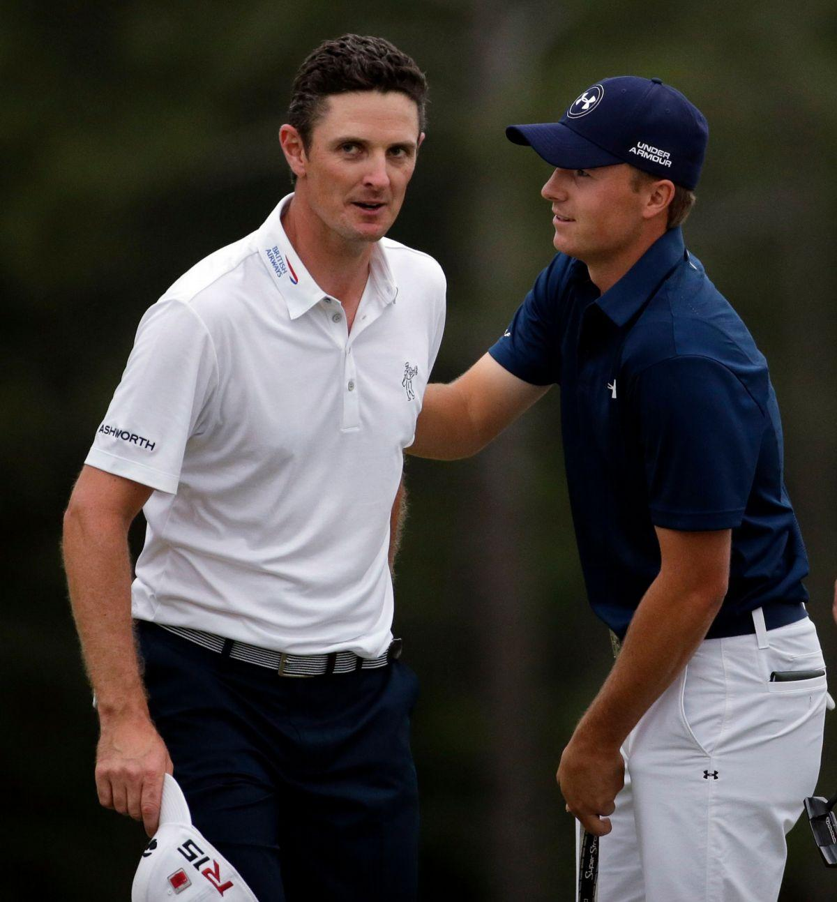 Justin Rose, left, and Jordan Spieth