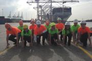 The 'Container Crew' get set for the ABP Southampton Half Marathon