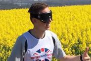 Martin Ball will be running the course blindfolded.
