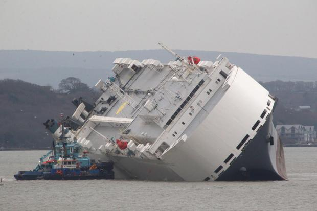 Coverage of the Hoegh Osaka ship stranded on Bramble Bank in