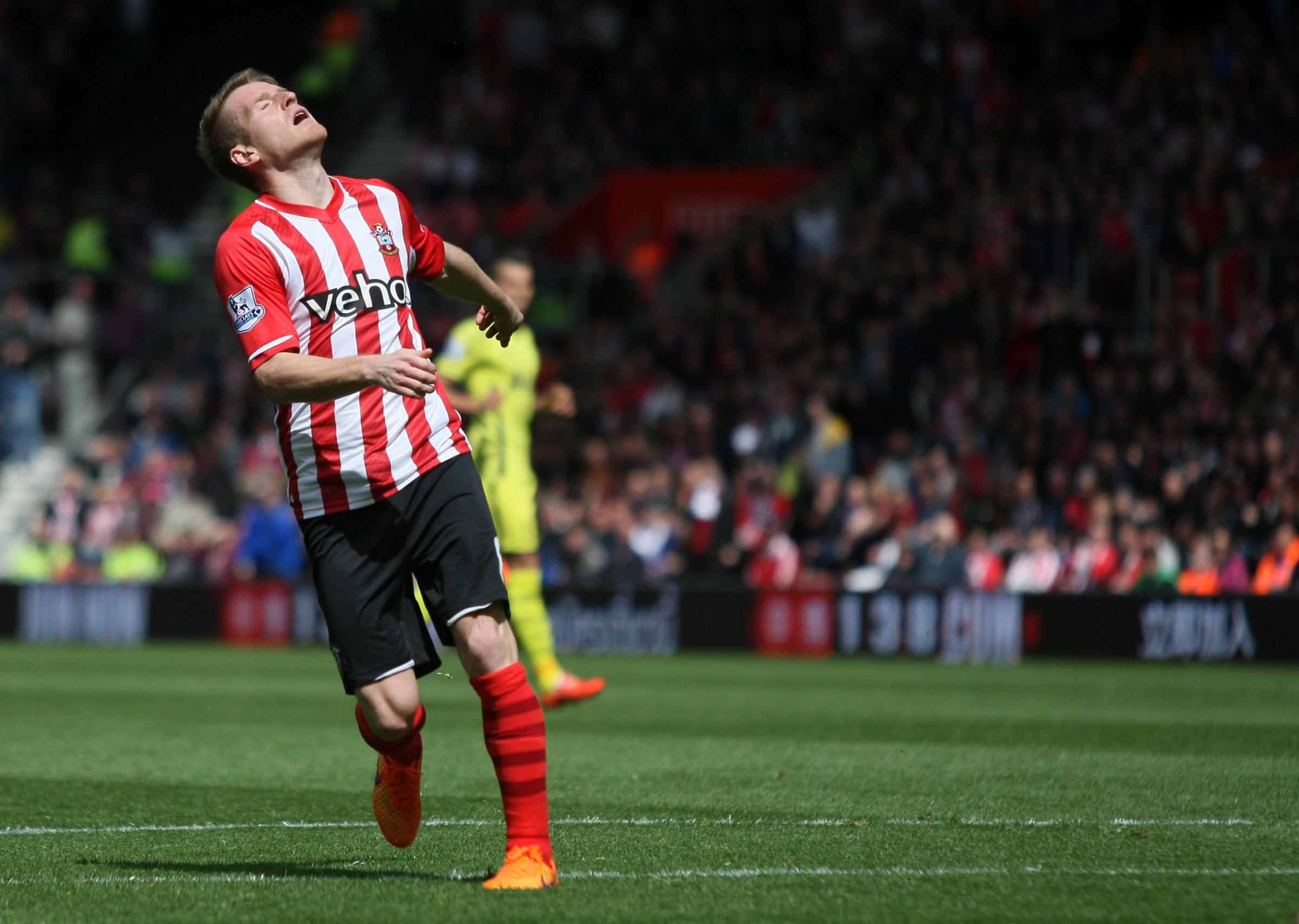 Steven Davis rues missing a chance to score in Saturday's match against Tottenham