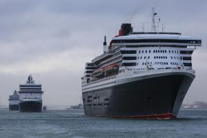 Three Queens set sail from Southampton
