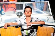 Hampshire actress Sarah Parish, centre, in Way Upstream with Jill Halfpenny and