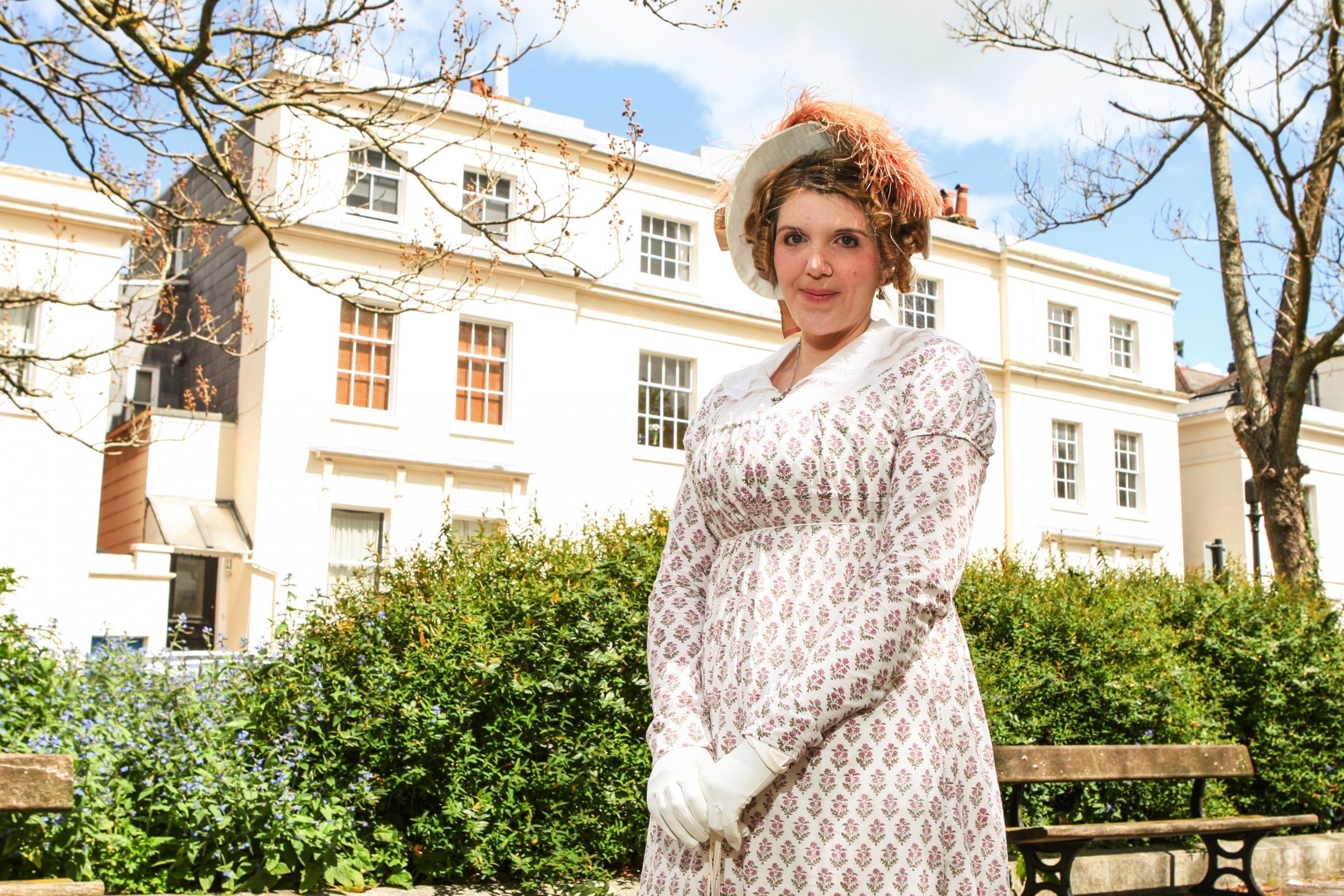 Claire-Violet Hanley in Regency costume