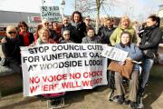 Campaigners are trying to stop the closure of Woodside Lodge