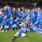 Daily Echo: Inverness celebrate with the trophy