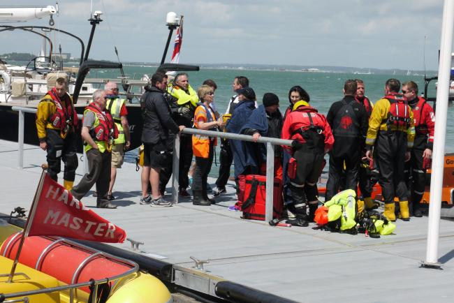The scene at Cowes after the rescue