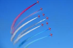 Red Arrows to fly over the south today
