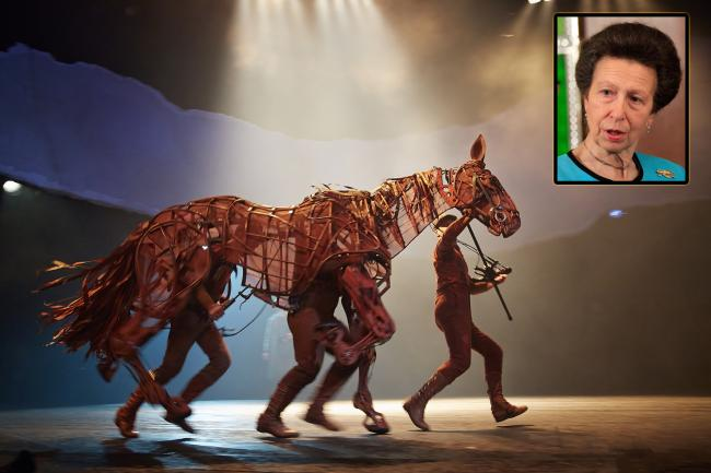 Joey the War Horse from the West End production will be trotting around the ceremony attended by Princess Anne.