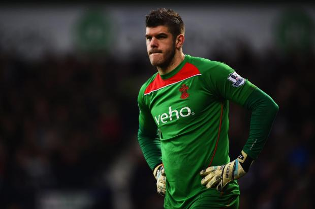 Daily Echo: WEST BROMWICH, ENGLAND - FEBRUARY 28:  Fraser Forster of Southampton looks on during the Barclays Premier League match between West Bromwich Albion and Southampton at The Hawthorns on February 28, 2015 in West Bromwich, England.  (Photo by Laurence Griffi